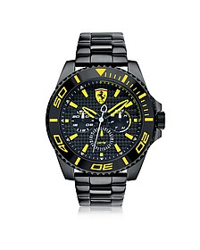 XX Kers Black and Yellow Stainless Steel Men's Watch - Ferrari