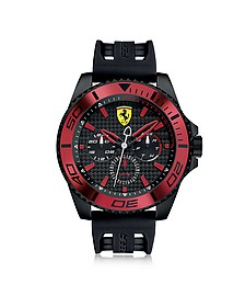 XX Kers Black and Red Stainless Steel Men's Watch - Ferrari