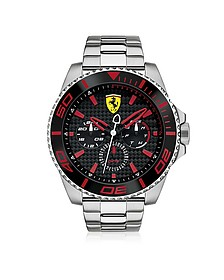 XX Kers Silver and Red Stainless Steel Men's Watch - Ferrari