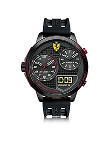 XX Kers Black Stainless Steel Case and Silicone Strap Men's Watch - Ferrari