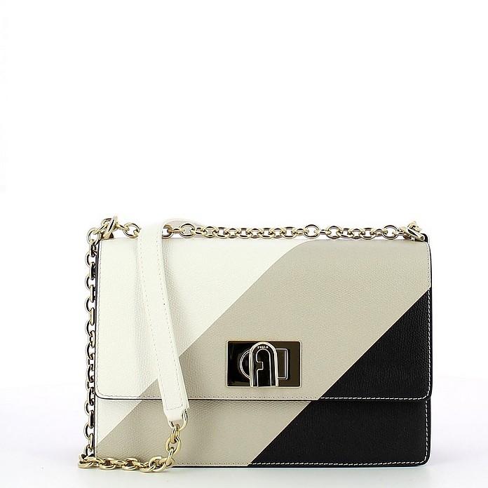 olor-Block 1927 Small Leather Crossbody Bag - Furla