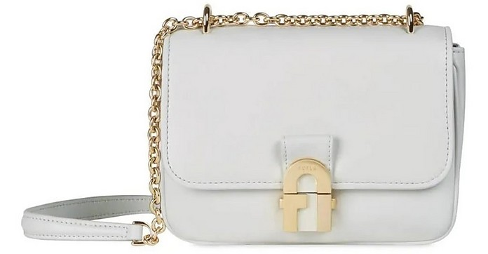 White Chalk Cosy Mini Shoulder Bag - Furla
