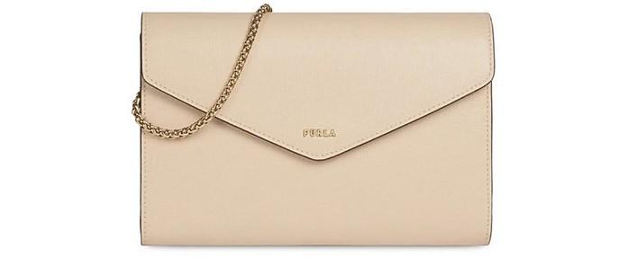 Ballerina Pink Saffiano Chain Mini Wallet Clutch Bag - Furla