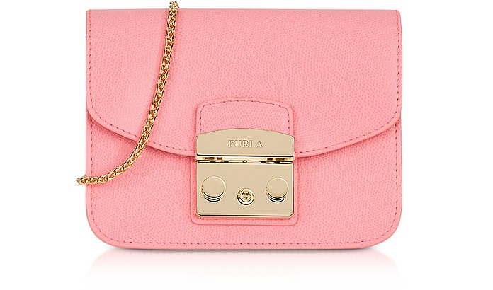 Rose Quartz Leather Metropolis Mini Crossbody Bag - Furla
