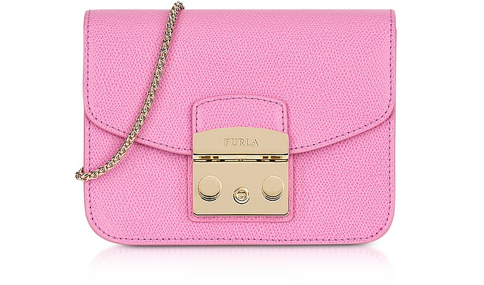 0e8ede60d487 Furla Orchid Leather Metropolis Mini Crossbody Bag at FORZIERI Australia