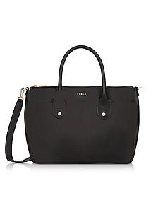 Onyx Saffiano Leather Mediterranea Medium Satchel Bag - Furla