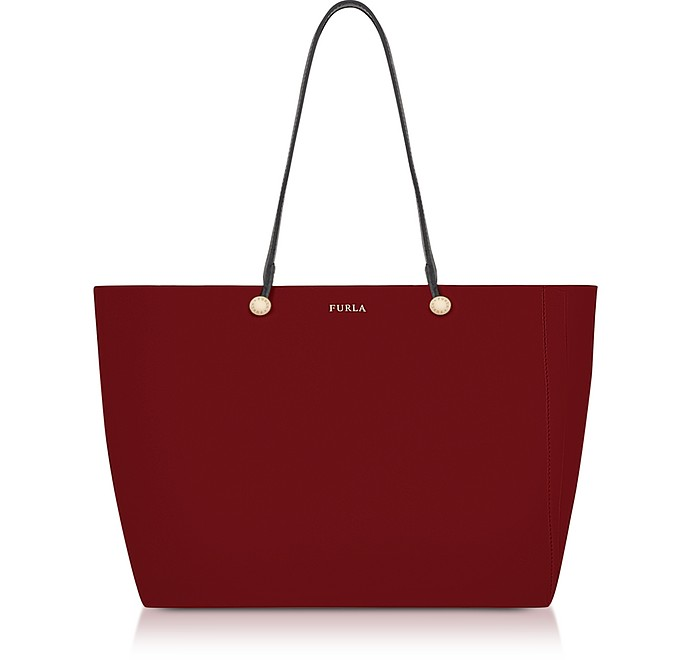 Cherry and Toni Vaniglia Leather Eden Medium Tote Bag - Furla