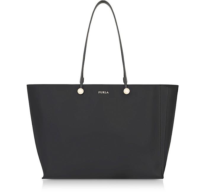 Onyx and Toni Vaniglia Turtle Printed Leather Eden Medium Tote Bag - Furla
