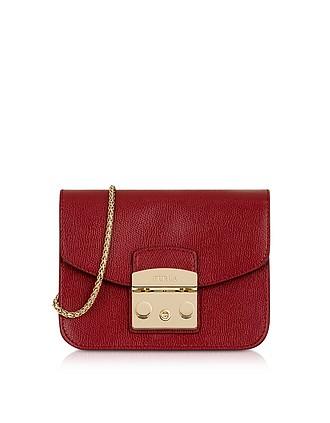 3fa3be43540c4 Cherry Leather Metropolis Mini Crossbody Bag - Furla