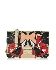 Toni Mercurio Fox Printed Leather Metropolis Small Shoulder Bag - Furla