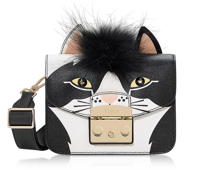 Metropolis Jungle Cat Mini Crossbody Bag - Furla