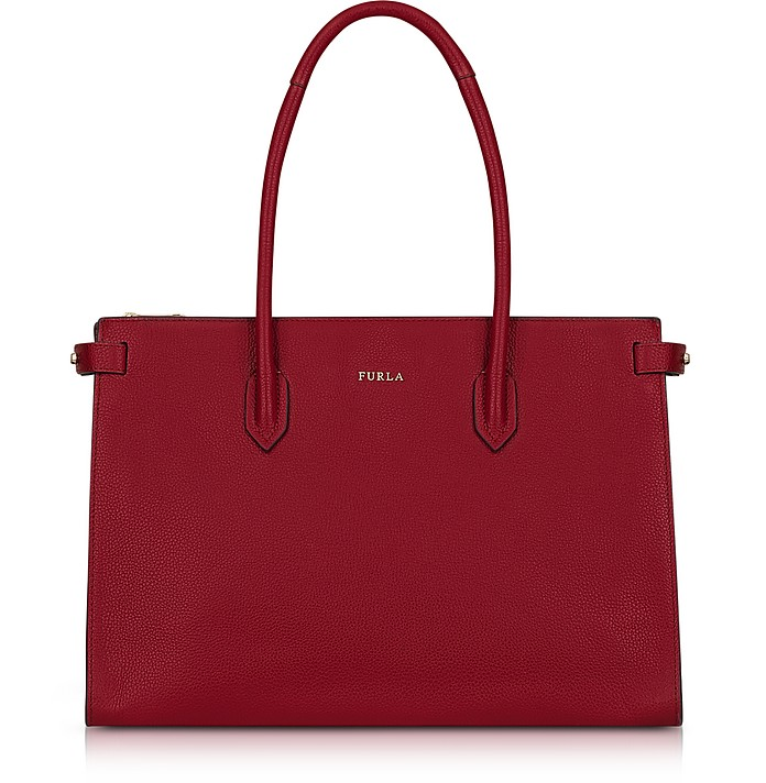 Cherry Leather Pin Medium E/W Tote Bag  - Furla