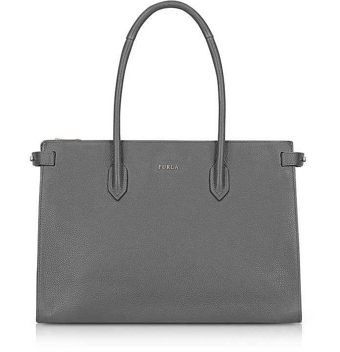 Mercury Leather Pin Medium E/W Tote Bag  - Furla