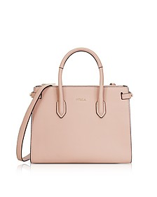 Moonstone Leather Pin Small E/W Tote Bag - Furla