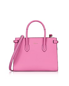 Orchid Leather Pin Small E/W Tote Bag - Furla