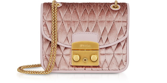 Quilted Velvet Metropolis Cometa Mini Crossbody Bag - Furla / フルラ