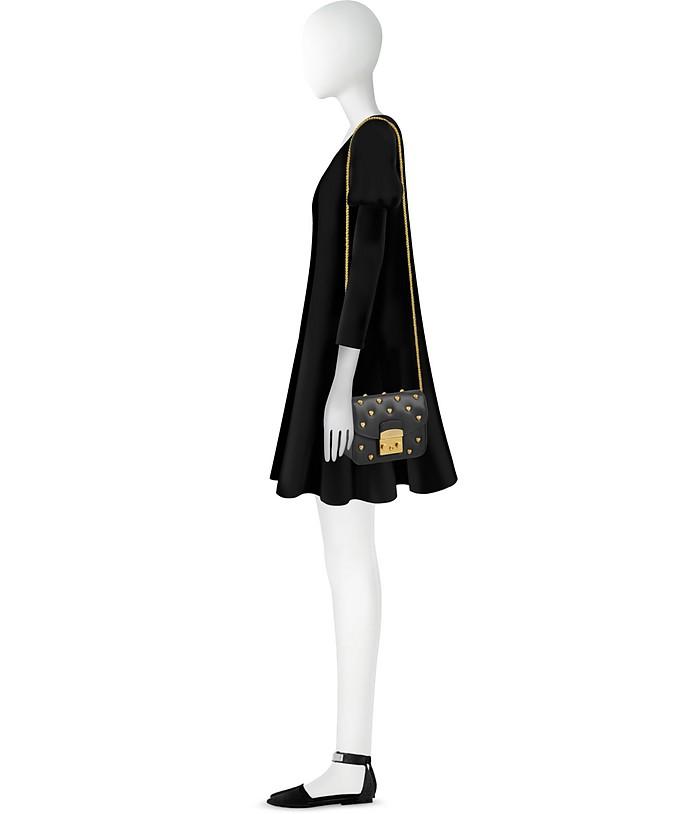 5a6838975f9c Furla Black Onyx Metropolis Amoris Mini Crossbody Bag at FORZIERI