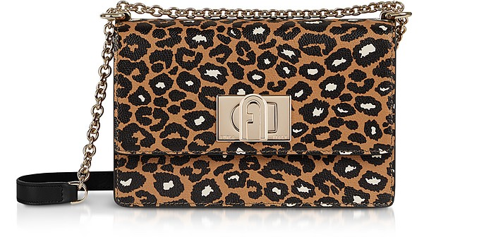Animal Printed Leather 1927 Mini Crossbody Bag 20 - Furla