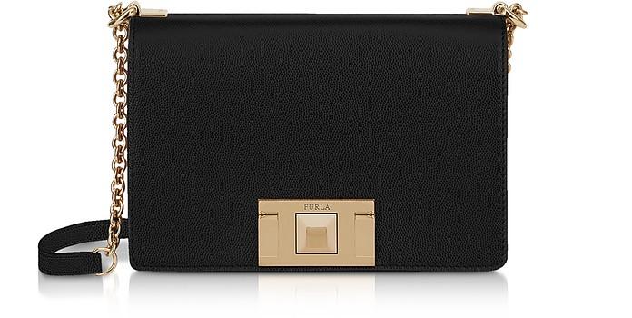 Black Leather Mimì Mini Crossbody Bag - Furla