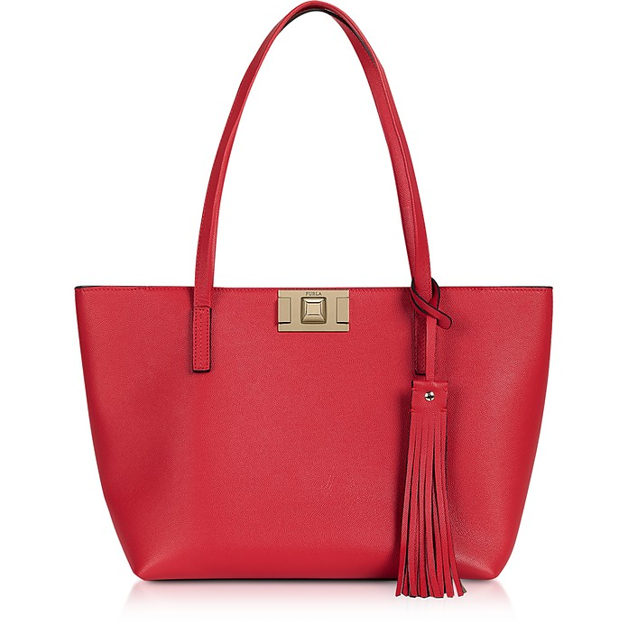Genuine Leather Mimì M Tote - Furla