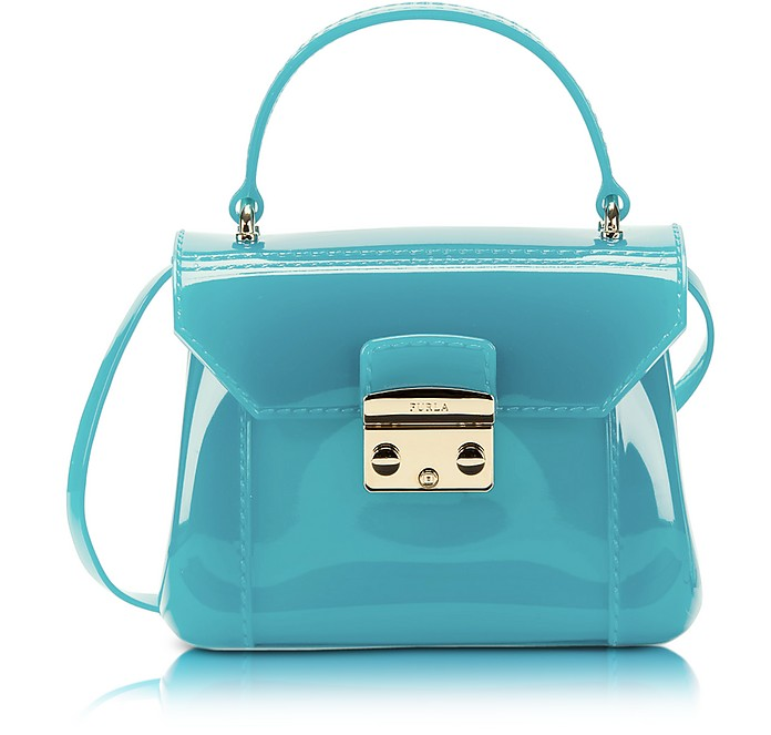 Aquamarine Candy Bon Bon Mini Crossbody  - Furla