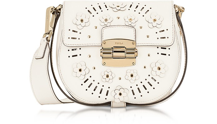 Petalo Leather Club Mini Crossbody Bag w/Daisy  - Furla