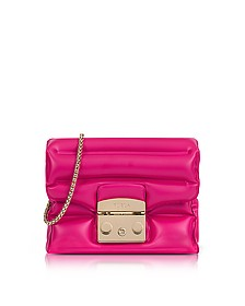 Pinky Rubber Metropolis Oxygen Mini Crossbody Bag - Furla