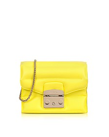 Senape Rubber Metropolis Oxygen Mini Crossbody Bag - Furla