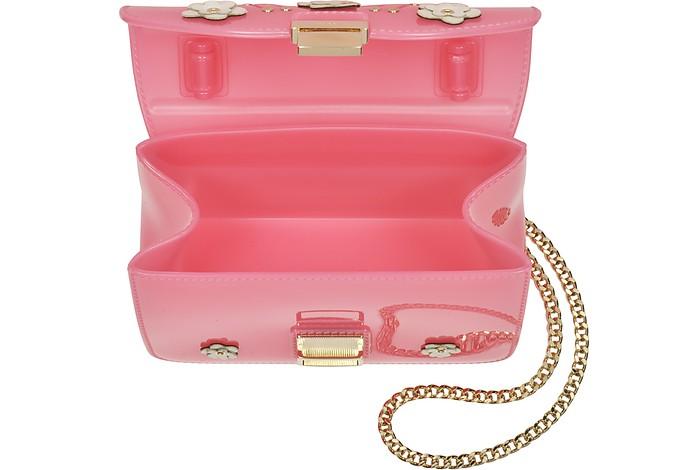 8a4c426df1 Candy Lilla Mini Borsa a Mano Jelly Rosa con Fiori Furla su FORZIERI