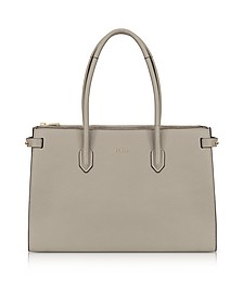 Sand Leather E/W Pin Medium Tote Bag - Furla