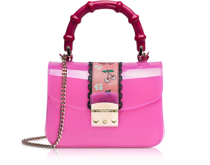 Candy Esotica Fuchsia Top Handle Mini Crossbody Bag - Furla