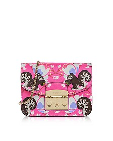 Toni Fucsia Leather Metropolis Mini Crossbody Bag  - Furla