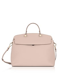Magnolia Leather My Piper Medium Top Handle Satchel Bag - Furla