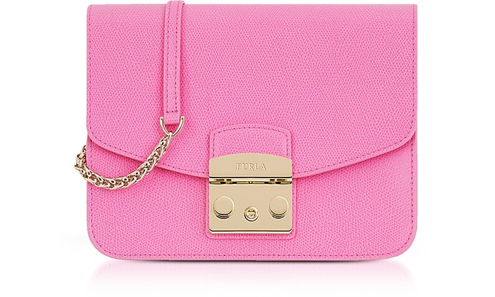Orchid Leather Metropolis Small Crossbody - Furla