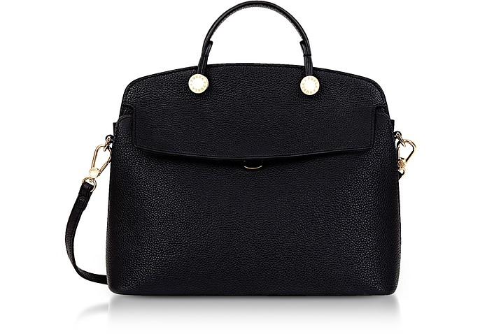 Onyx Leather My Piper Small Satchel - Furla