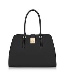 Onyx Leather Large Milano Tote Bag - Furla