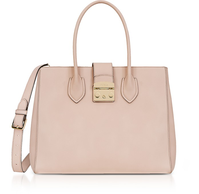 Magnolia Leather Metropolis L Tote Bag - Furla