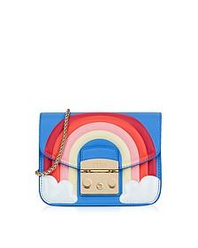 Toni Celeste Fantasia Printed Leather Metropolis Mini Crossbody Bag - Furla