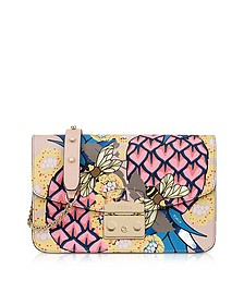 Toni Magnolia Ananas Printed Leather Metropolis Small Shoulder Bag - Furla
