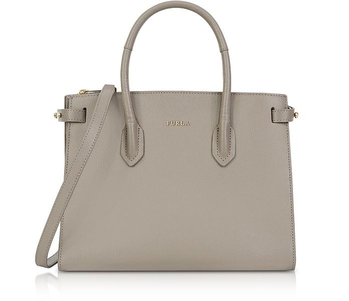 Saffiano Leather Pin Small E/W Tote Bag - Furla