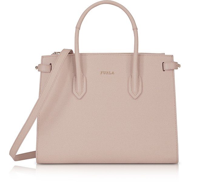 Borsa in Pelle Saffiano Pin Small E/W - Furla