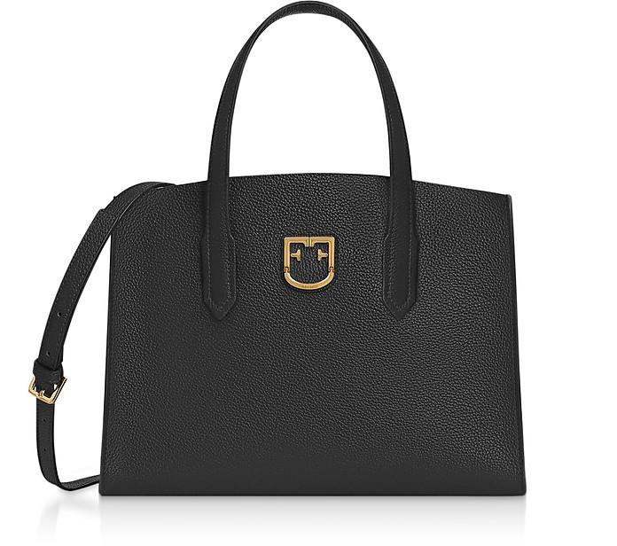 Onyx Black Lodovica M Tote Bag - Furla