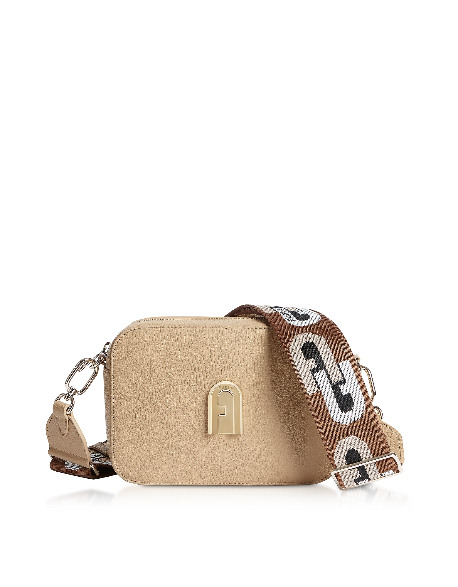 Furla Sleek Mini Crossbody Bag In Sand