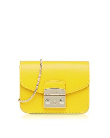 Bright Yellow Metropolis Mini Crossbody Bag - Furla