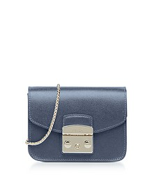 Dark Avio Metropolis Mini Crossbody Bag - Furla