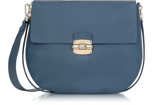1315ff1eacaa Furla Club M Dark Avion Leather Crossbody Bag at FORZIERI
