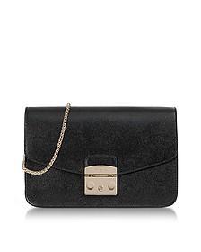 Onyx Metropolis Small Leather Shoulder Bag - Furla