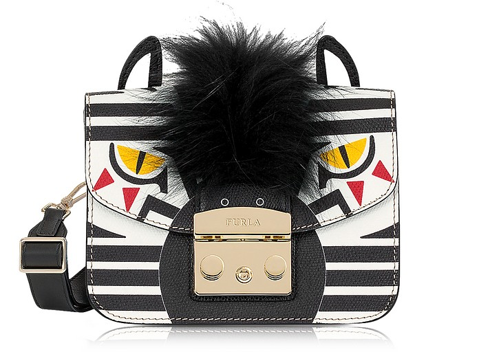 7644066802 Furla Metropolis Jungle Zebra Mini Crossbody Bag at FORZIERI UK