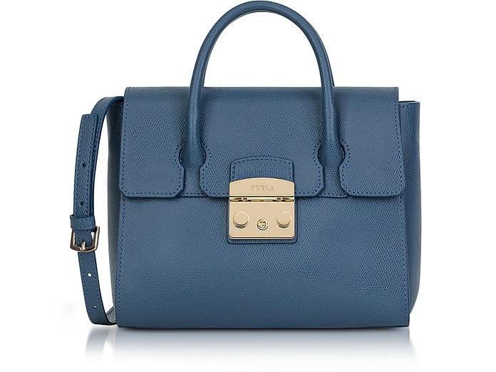 Avio Grained Leather Metropolis Small Satchel Bag - Furla