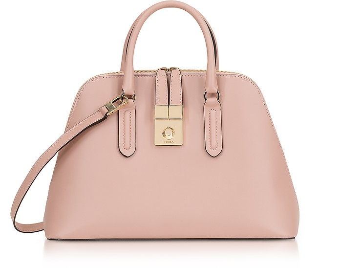 Moonstone Milano Medium Leather Handle Bag - Furla
